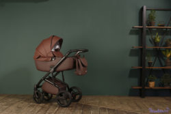 Детская коляска Reindeer Raven 3 в 1 (Бордовый)