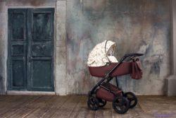 Детская коляска Reindeer Raven 3 в 1 (Бордовый-белый)