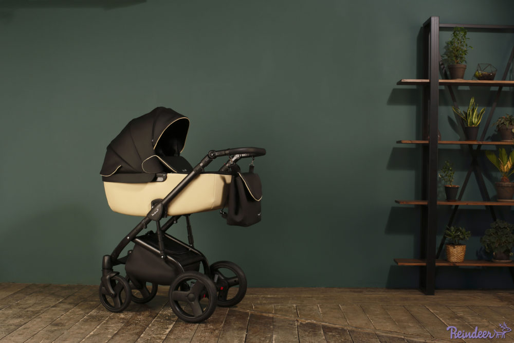 Детская коляска Reindeer Raven 2 в 1 (Черный/бежевый)