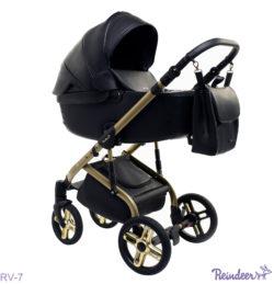 Детская коляска Reindeer Raven 3 в 1 (Черный)