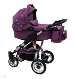 Детская коляска Reindeer City Cruise 2 в 1 с конвертом (фиолетовый)