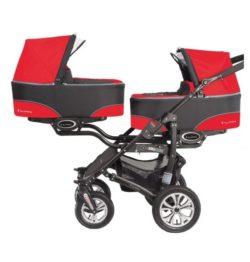 Коляска для двойни BabyActive Twinny Standart 2 в 1 Black (Красный)