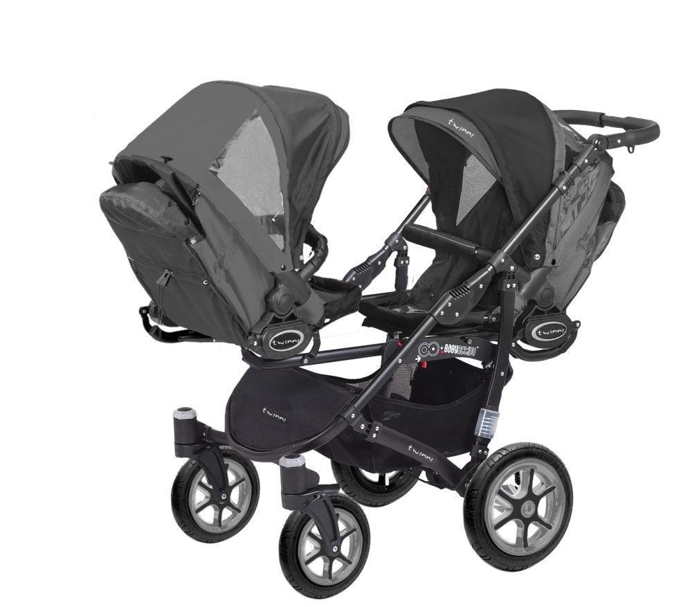 Коляска для двойни BabyActive Twinny Standart 2 в 1 Black (Черный)