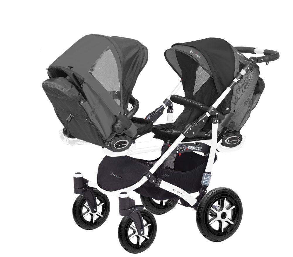Коляска для двойни BabyActive Twinny Standart 2 в 1 White (Черный)