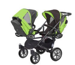 Коляска для двойни BabyActive Twinny Standart 2 в 1 Black (Зеленый)