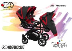 Коляска для тройни BabyActive Trippy Premium 2 в 1 (Красный)