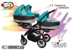 Коляска для тройни BabyActive Trippy Premium 2 в 1 (Бирюзовый)