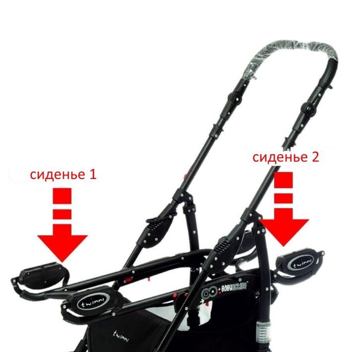 Коляска для двойни BabyActive Twinny Premium 2 в 1 (Бирюзовый)