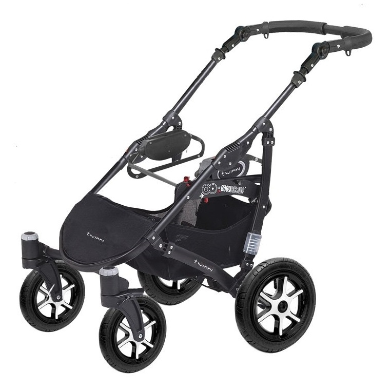 Коляска для двойни BabyActive Twinny Premium 2 в 1 (Черный)