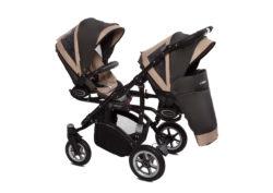 Коляска для двойни BabyActive Twinny Premium 2 в 1 (Бежевый)