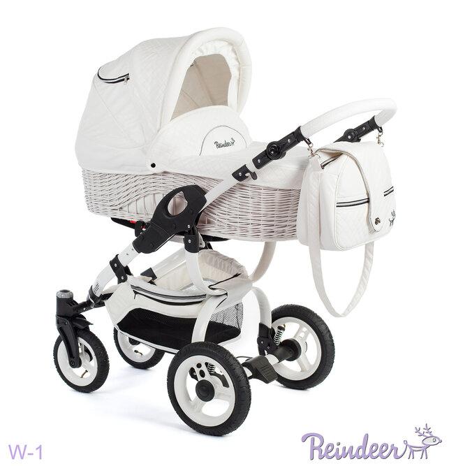 Детская коляска-люлька Reindeer City Prestige Wiklina (белый)