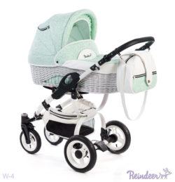Детская коляска Reindeer City Prestige Wiklina 2 в 1 (бирюзовый)