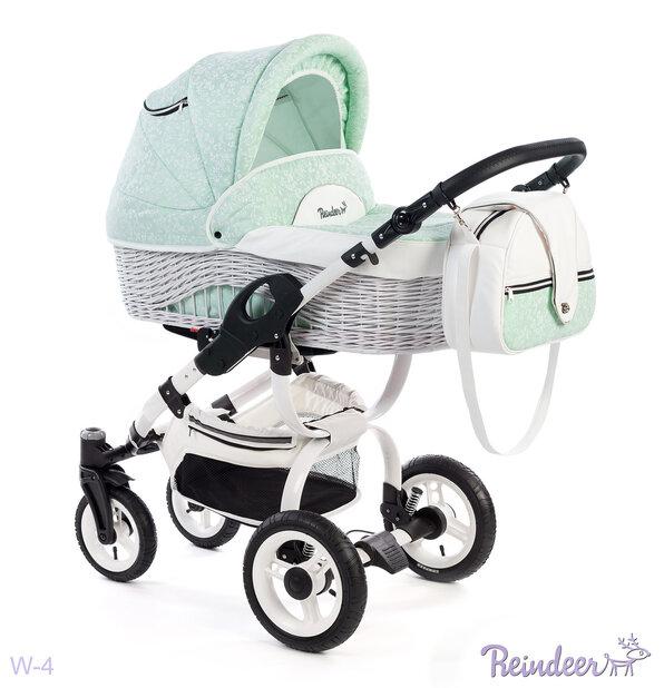 Детская коляска-люлька Reindeer City Prestige Wiklina (бирюзовый)