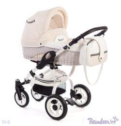 Детская коляска Reindeer City Prestige Wiklina 3 в 1 с конвертом(бежевый)
