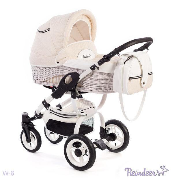 Детская коляска-люлька Reindeer City Prestige Wiklina (бежевый)