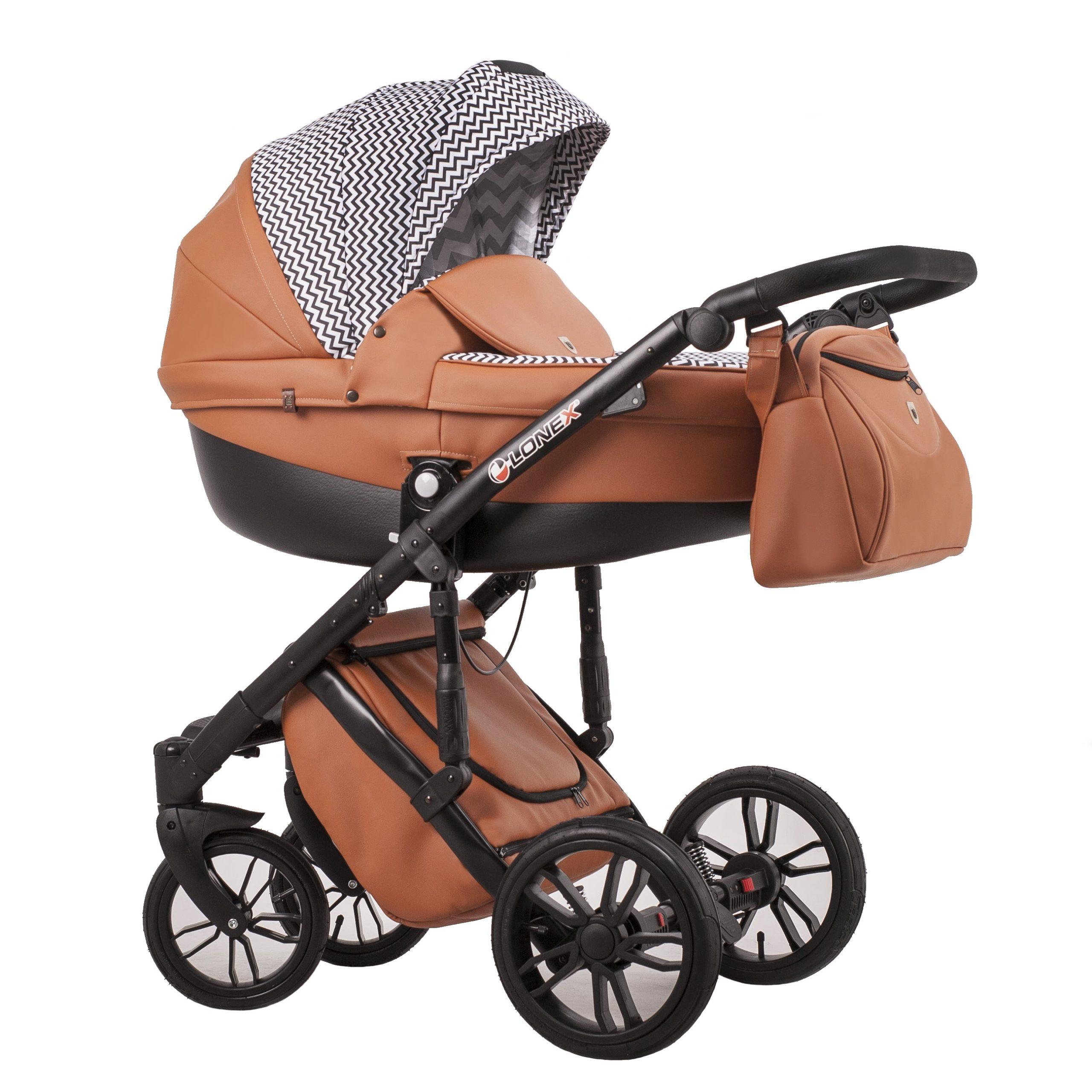 Детская коляска LONEX COMFORT GALLAXY 2 В 1 (Белый/оранжевый)