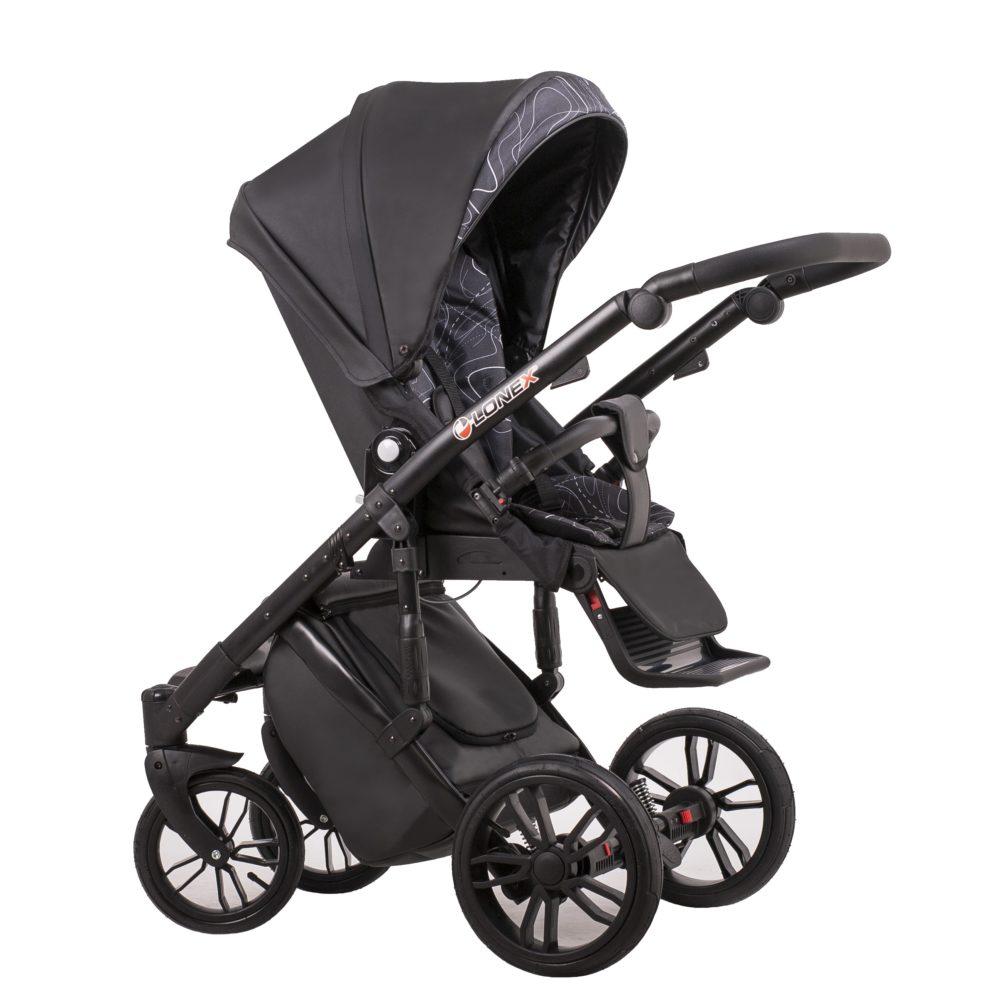 Детская коляска LONEX COMFORT GALLAXY 2 В 1 (Черный)