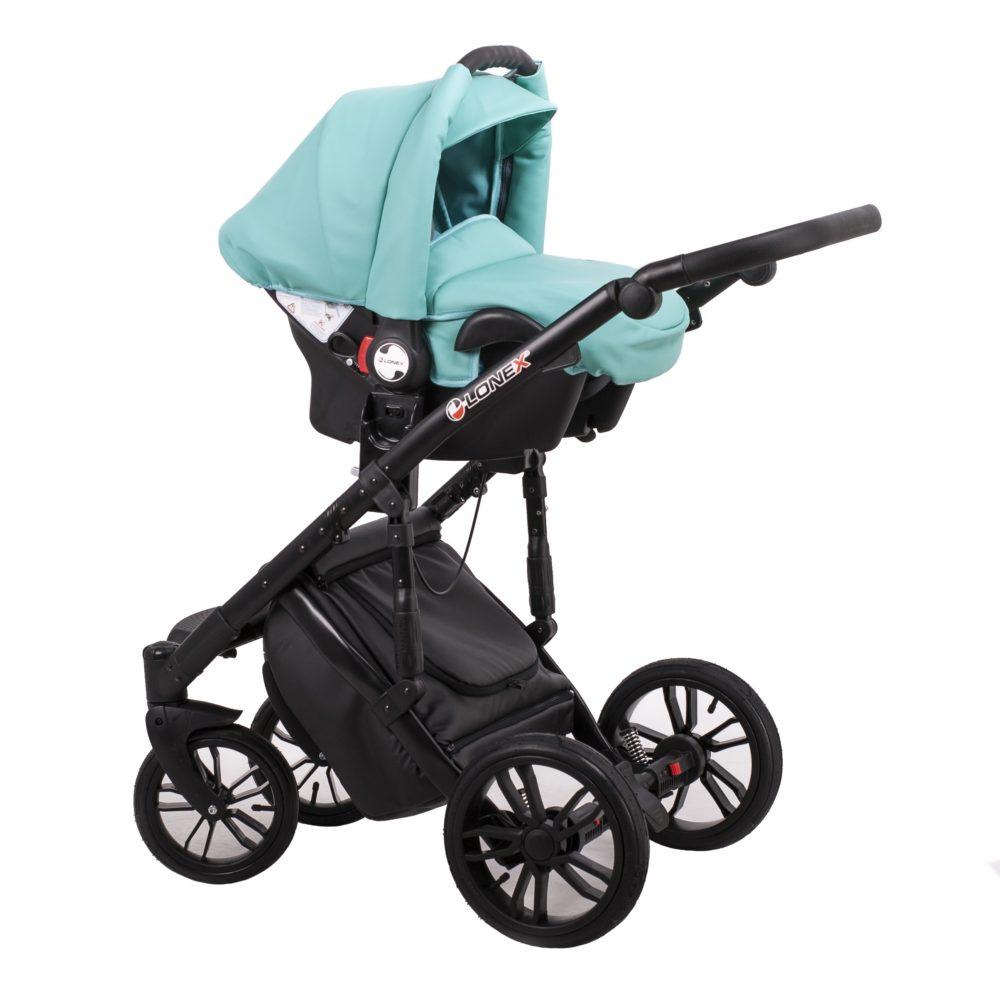 Детская коляска LONEX COMFORT GALLAXY 3 В 1 (Бирюзовый)