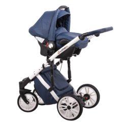 Детская коляска LONEX COMFORT GALLAXY 3 В 1 (Синий/белый)
