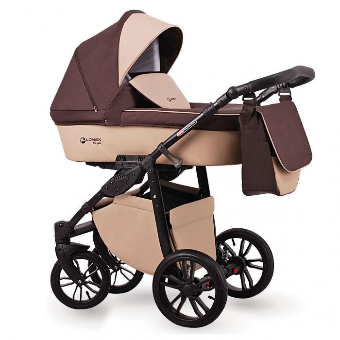 Детская коляска LONEX FIRST 2 В 1 (Бежевый/коричневый)