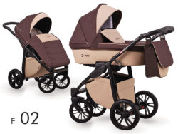 Детская коляска LONEX FIRST 3 В 1 (Бежевый/коричневый)
