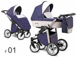 Детская коляска LONEX FIRST 3 В 1 (Синий/белый)