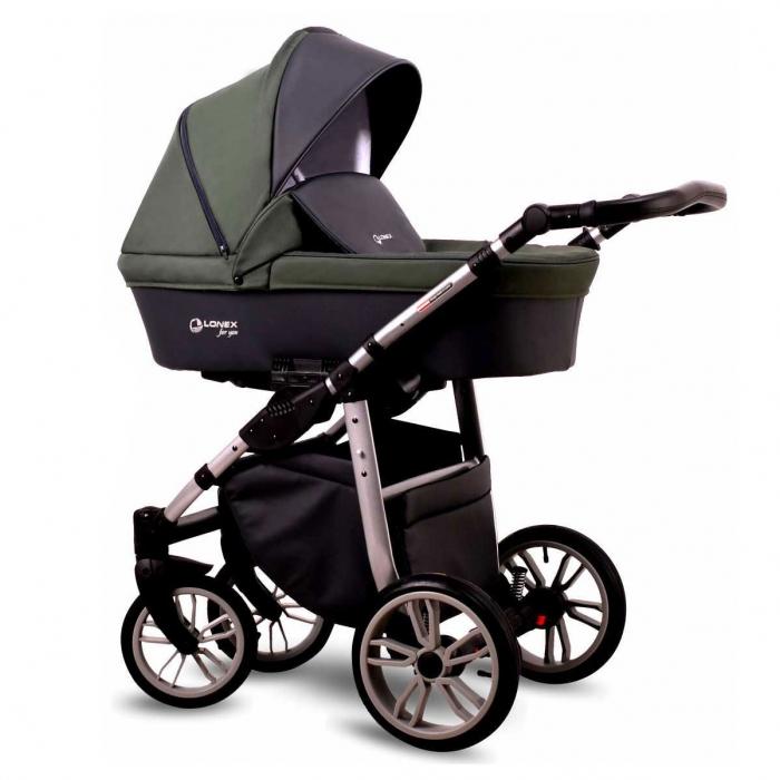Детская коляска LONEX FIRST 3 В 1 (Зеленый)