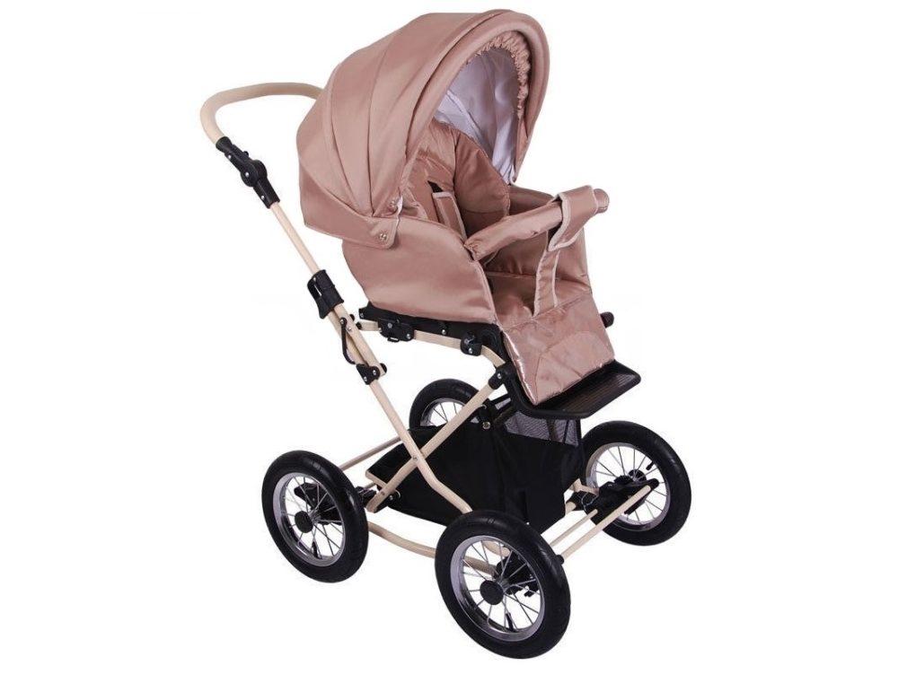 Детская коляска Lonex Julia Baronessa 2 в 1 (Бежево-розовый)