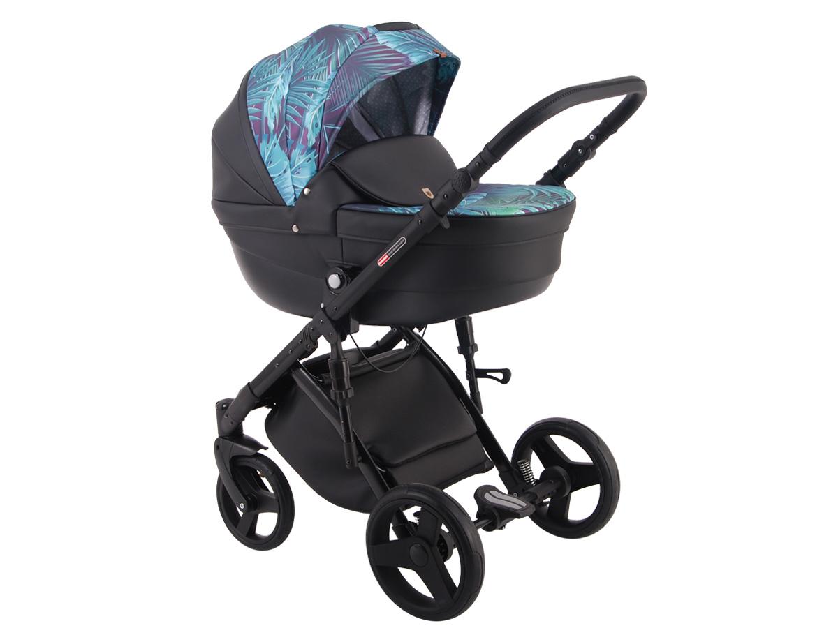 Детская коляска LONEX COMFORT GALLAXY 3 В 1 (Черный/голубой)