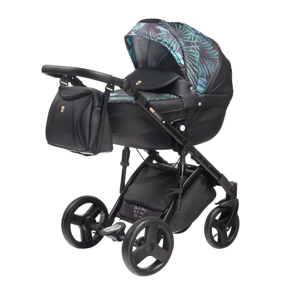 Детская коляска LONEX COMFORT GALLAXY 2 В 1 (Черный/голубой)