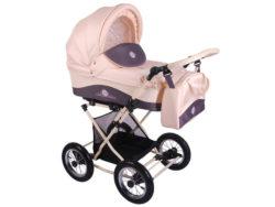 Детская коляска Lonex Julia Baronessa 2 в 1 (Розовый)