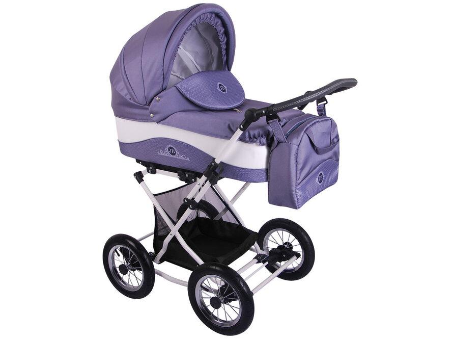Детская коляска Lonex Julia Baronessa 2 в 1 (Серо-фиолетовый)