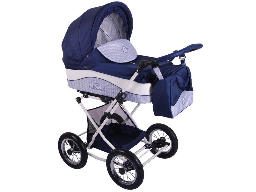 Детская коляска Lonex Julia Baronessa 2 в 1 (Синий/белый)
