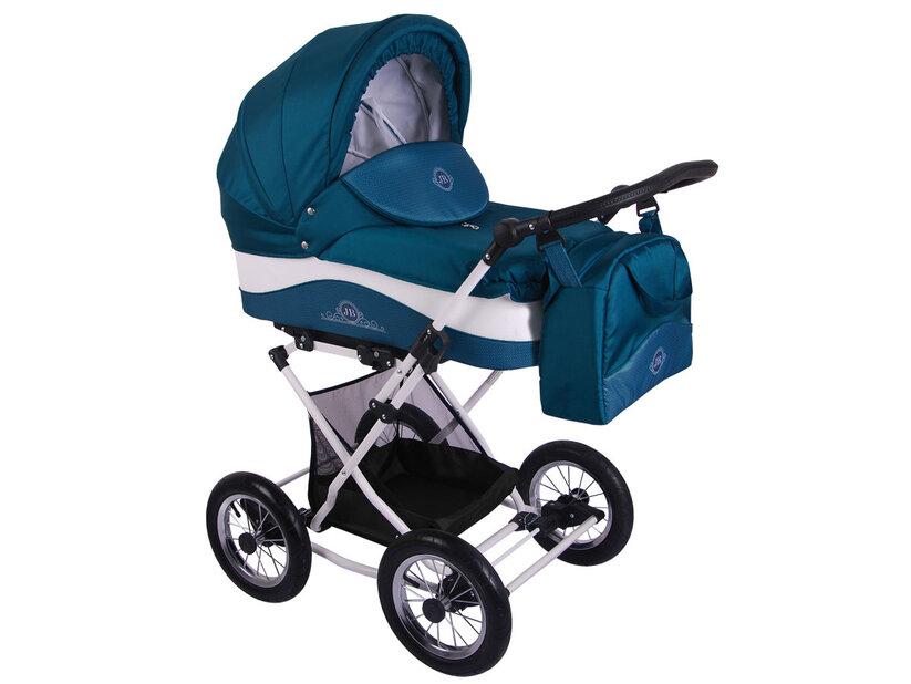 Детская коляска Lonex Julia Baronessa 2 в 1 (Бирюзовый)