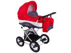 Детская коляска Lonex Julia Baronessa 2 в 1 (Красный)