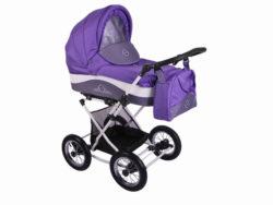 Детская коляска Lonex Julia Baronessa 2 в 1 (Фиолетовый)