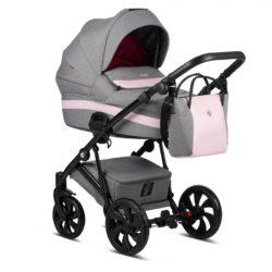 Детская коляска Tutis Zippy 3 в 1 2020 (Серый/розовый)