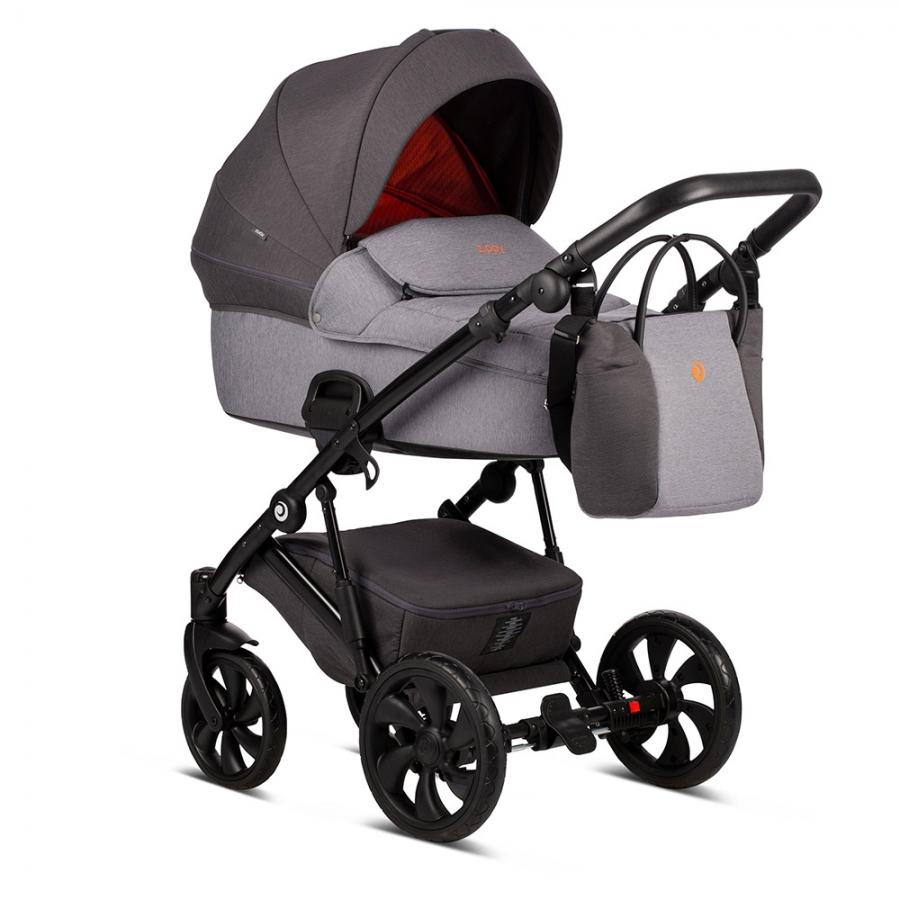 Детская коляска Tutis Zippy 2 в 1 2020 (Серый/оранжевый)