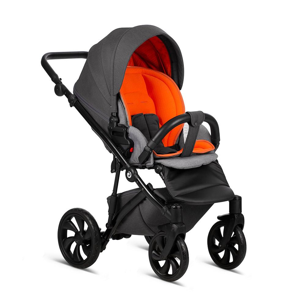 Детская коляска Tutis Zippy 3 в 1 2020 (Серый/оранжевый)