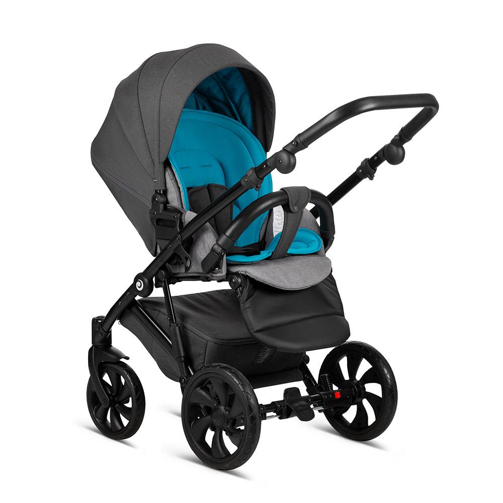 Детская коляска Tutis Zippy 3 в 1 New 2020 №165 (Серый-Бирюза)