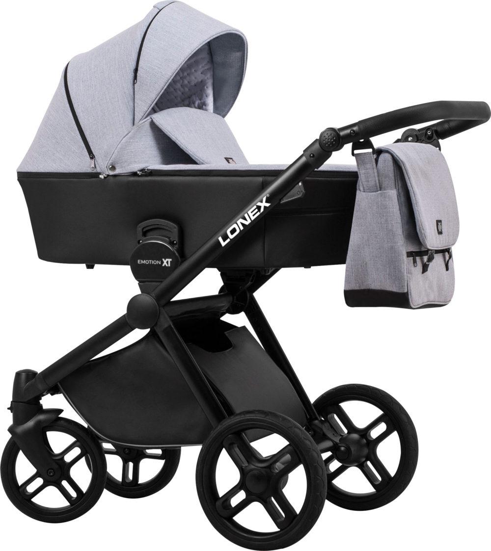 Детская коляска LONEX EMOTION XT COMBO 3 В 1 (Серый)