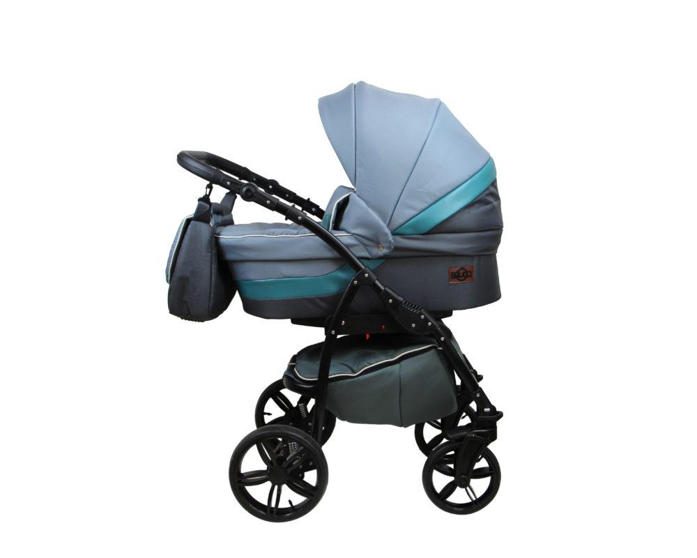 Детская коляска Bruca Rose 2 в 1 (Голубой/серый)