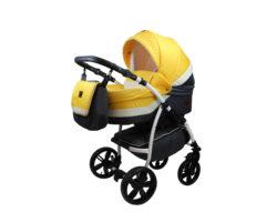 Детская коляска Bruca Rose 2 в 1 (Желтый/черный)
