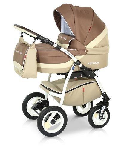 Детская коляска Verdi Optima 3 в 1 (Коричневый/бежевый)