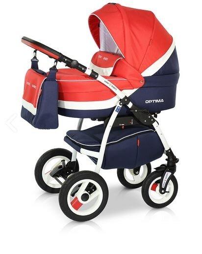 Детская коляска Verdi Optima 3 в 1 (Красный/синий)