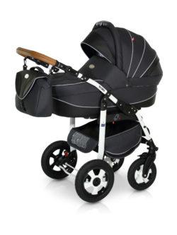 Детская коляска Verdi Broko 3 в 1 (Черный/белый)