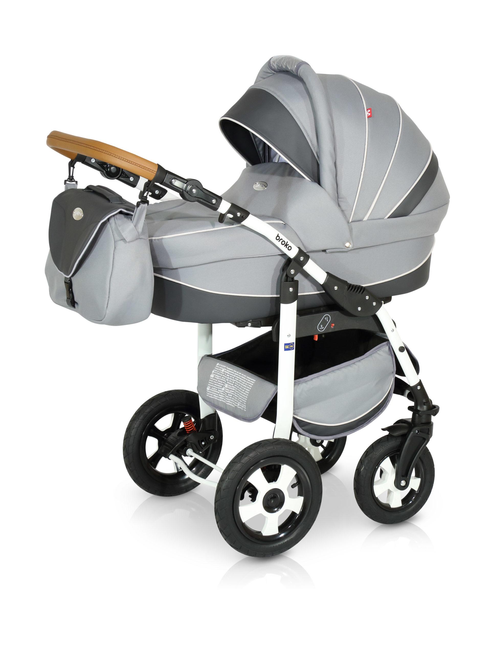 Детская коляска Verdi Broko 3 в 1 (Серый)