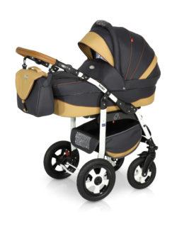 Детская коляска Verdi Broko 3 в 1 (Черный/бежевый)