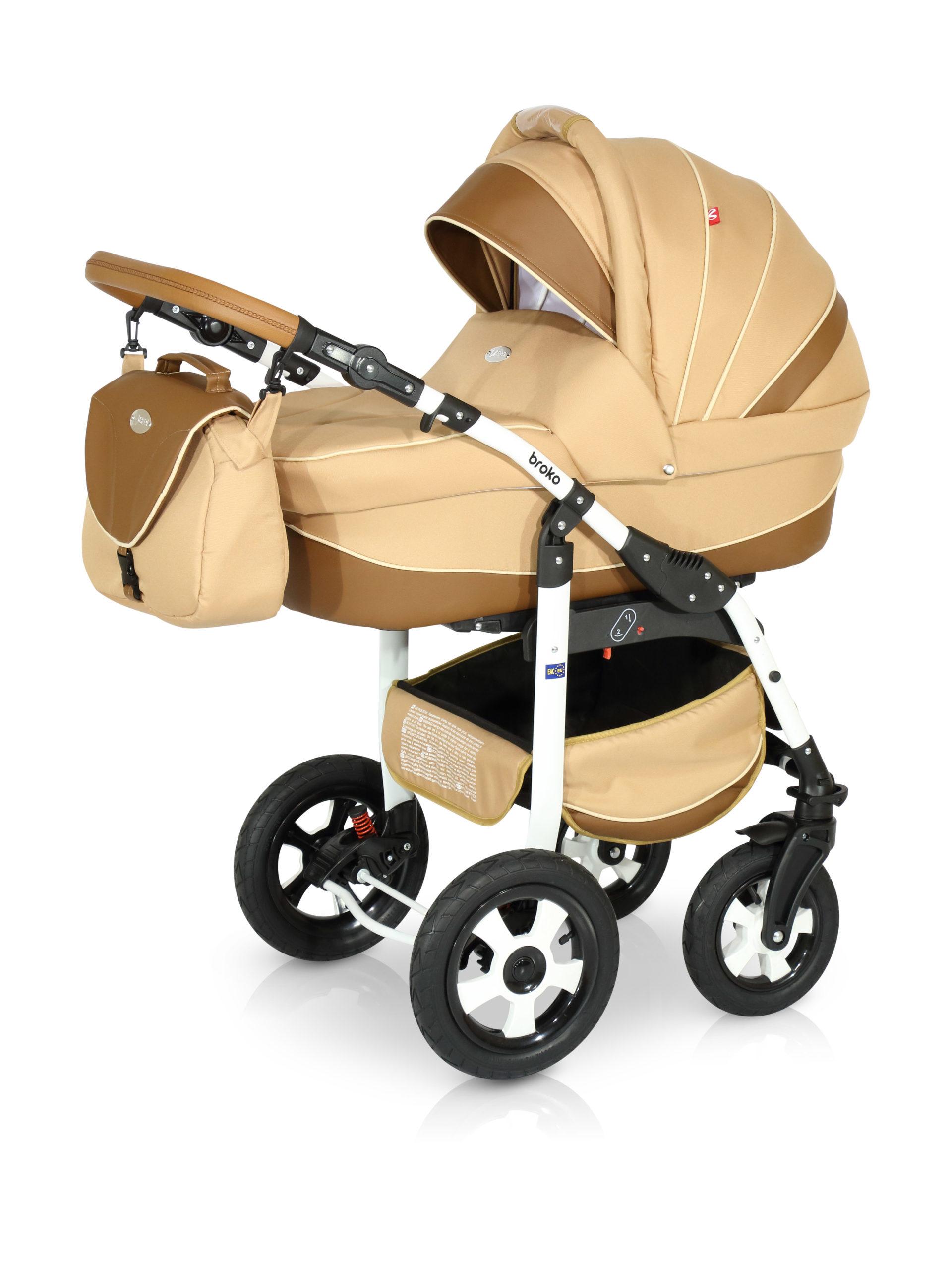 Детская коляска Verdi Broko 3 в 1 (Бежевый)