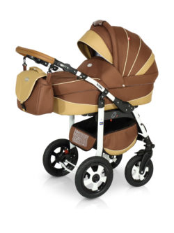 Детская коляска Verdi Broko 3 в 1 (Коричневый)